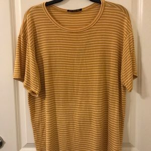 Charlotte Russe Mustard Yellow Striped Top
